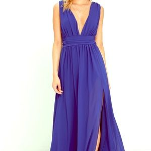 Never worn NWT HEAVENLY HUES ROYAL BLUE MAXI DRESS